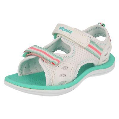 Clarks Doodles Mädchen weiß/grün Klettverschluss Riemen Sandalen sternen-spiele