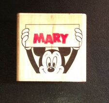 Rubber Stamp, Mickey Mouse Disney, Mary