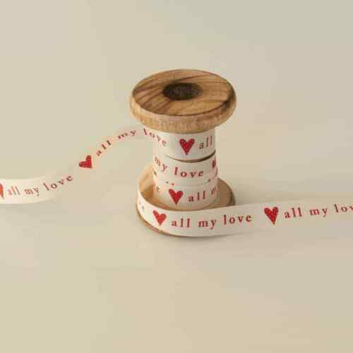 Per Metre 15mm All My Love Ribbon