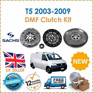 Para-Transporter-T5-1-9-TDI-2003-2009-Sachs-Embrague-amp-Kit-DMF-Doble-Masa-Rigida-Volante