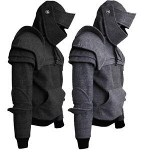 Men-Vintage-Medieval-Vintage-Sweatshirt-Mask-Hoodies-Jacket-Jumper-Costume-Prom