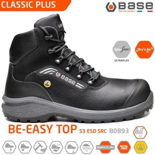 BASE CLASSIC PLUS SCARPE ANTINFORTUNISTICA BE-EASY TOP S3 ESD SRC alta B0893