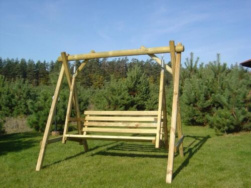 Adult swing seat,Outdoor wooden adult rocking swing Safe Summer Heavy Garden