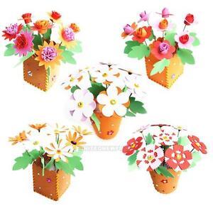 3D-Handmade-EVA-Flower-Pot-Educational-Toy-Kids-DIY-Craft-Kits-For-Children-Girl
