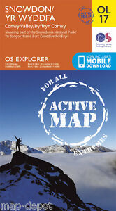Snowdon-ACTIVE-Explorer-Map-OL-17-Laminated-NEW-inc-MOBILE-DOWNLOAD
