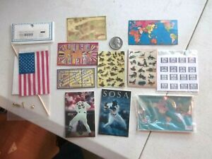 Dollhouse-Miniature-Game-Boards-Wall-Pictures-amp-American-Flag-1-12-scale