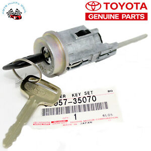 genuine toyota oem ignition switch lock cylinder and key w o tiltimage is loading genuine toyota oem ignition switch lock cylinder and