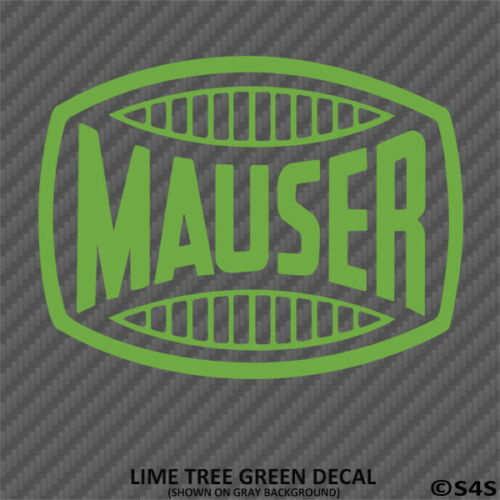 Mauser Firearms Hunting//Outdoor Sports Decal Sticker Choose Color//Size