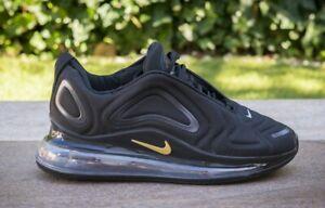 Scarpe-Nike-Air-Max-720-Nero-Black-Gold-Oro-40-41-42-43-44-45
