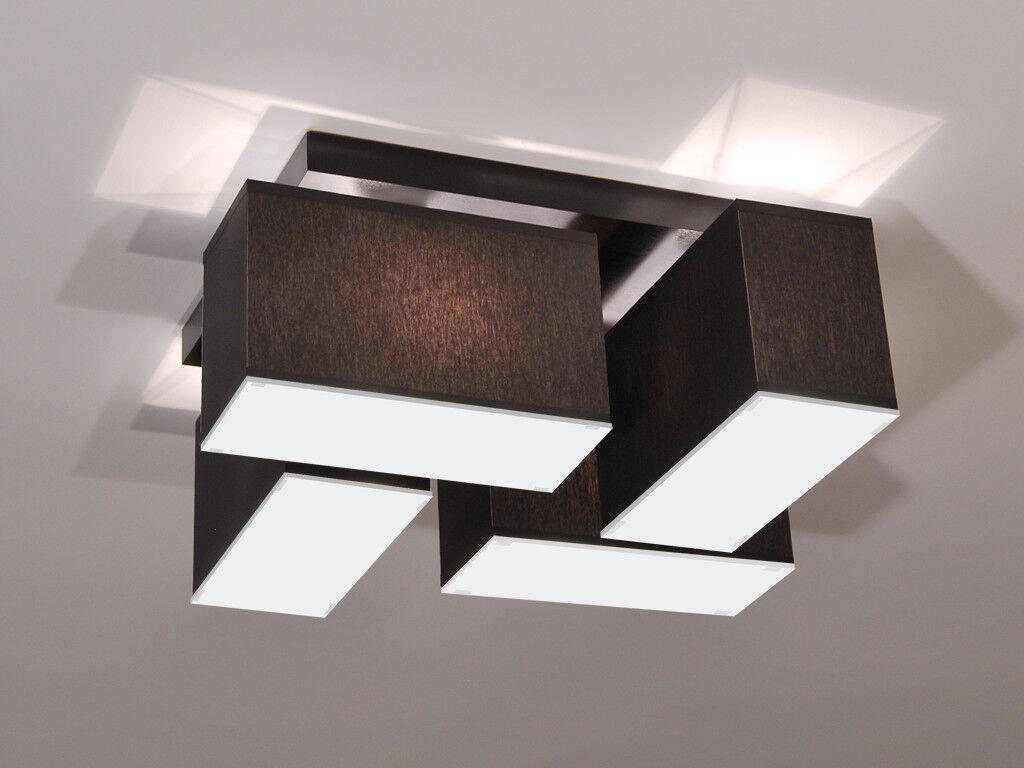 Plafoniera Con Lampada A Vista : Plafoniera lampada da soffitto blejls d