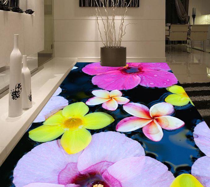 3D Flottante Fiore 103 Pavimento Foto Wallpaper Murales Muro Stampa Decalcomania