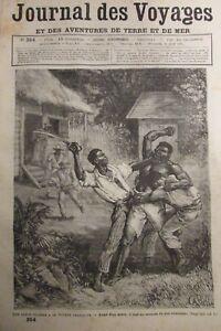 Zeitung-der-Voyages-Nr-354-von-1884-Guyana-Franzoesisch-Zeitreisen-Cause-Famous
