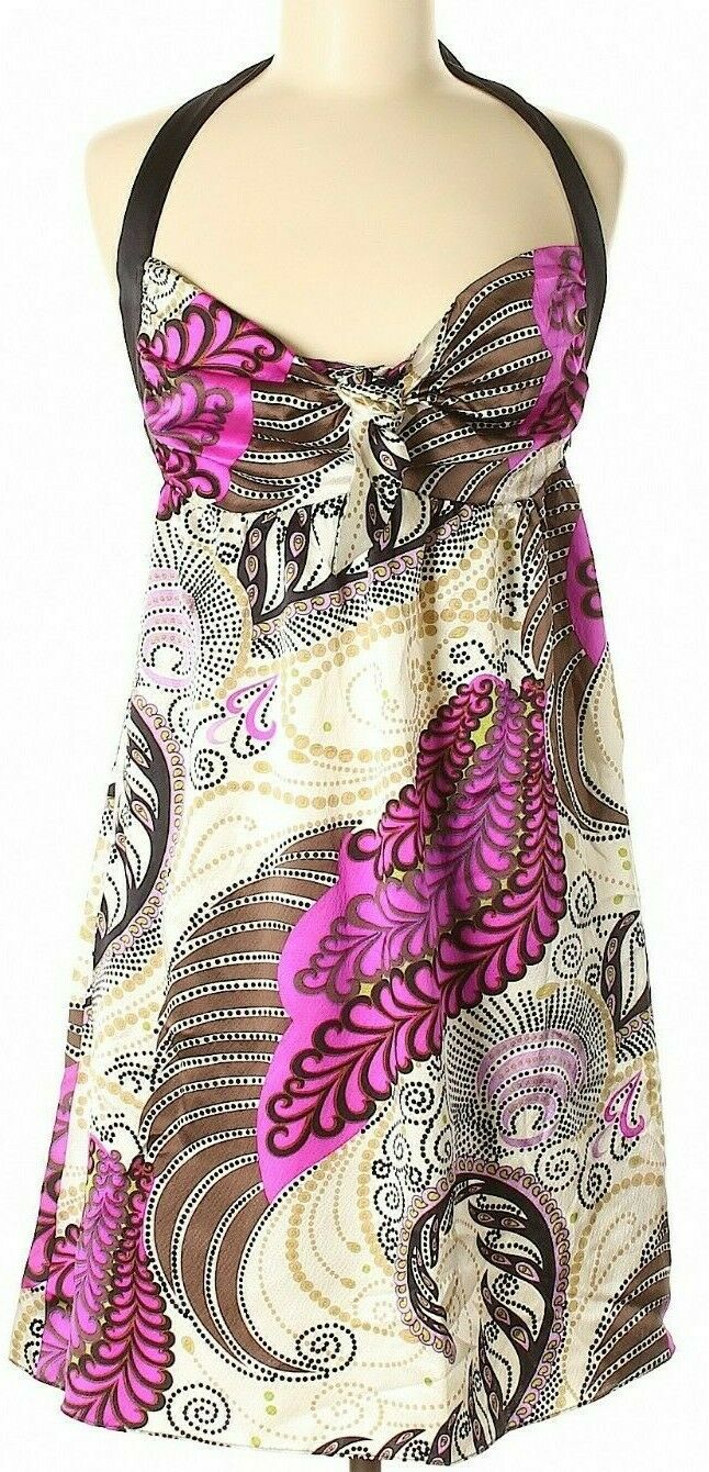 Alice & Trixie Women's Dress Size Medium Silk Paisley Print Halter