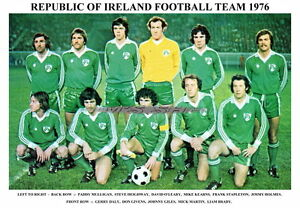 08853ace06a REPUBLIC OF IRELAND TEAM PRINT 1976 (BRADY STAPLETON GIVENS O LEARY ...