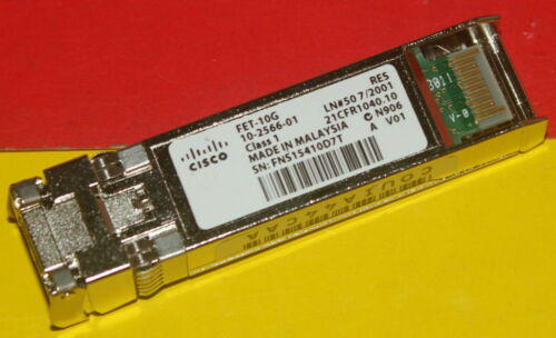 Cisco FET-10G 10G Fabric Extender SFP Transceiver Module 10-2566-01 26xAvailabl