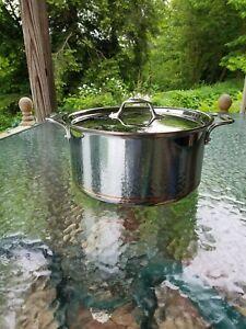 All Clad Copper Core 8 Qt Quart Stock Soup Pot With Lid
