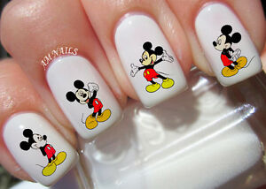 Image is loading Mickey-Mouse-Nail-Art-Stickers-Transfers-Decals-Set-
