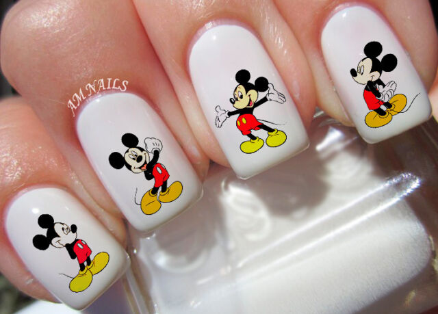 Mickey Mouse Nail Art Stickers Transfers Decals Set of 42 - Mickey Mouse Nail Art Stickers Transfers Decals Set Of 42 EBay