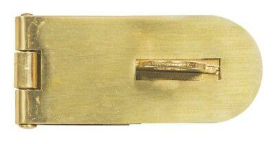 Hasp /& Staple 100mm Brass