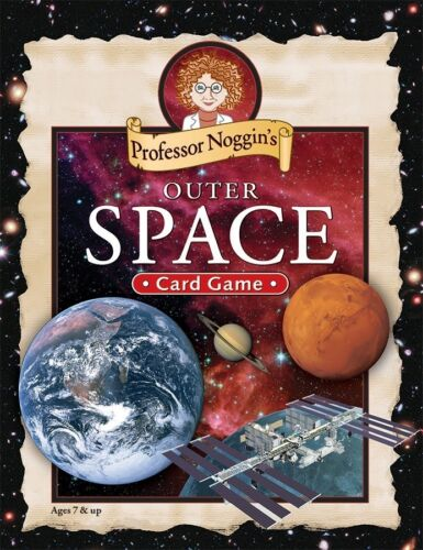 FUN EDUCATIONAL KIDS TRIVIA CARD GAME OUTSET PROFESSOR NOGGIN/'S OUTER SPACE