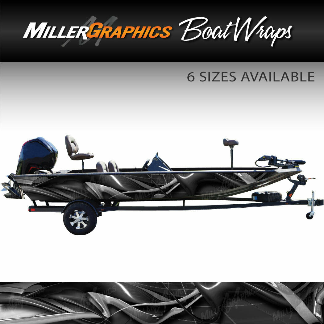 Taifun grau Boat Wrap Kit 3M Cast Vinyl Graphic Decal - 6 Größen verfügbar