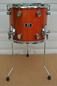 PDP By DW X7 SERIES 14 FLOOR TOM In ORANGE SPARKLE For