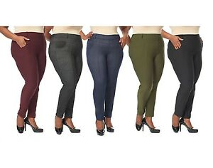 Women's Plus Size Leggings Jeans Look Jeggings Stretch Pants Size