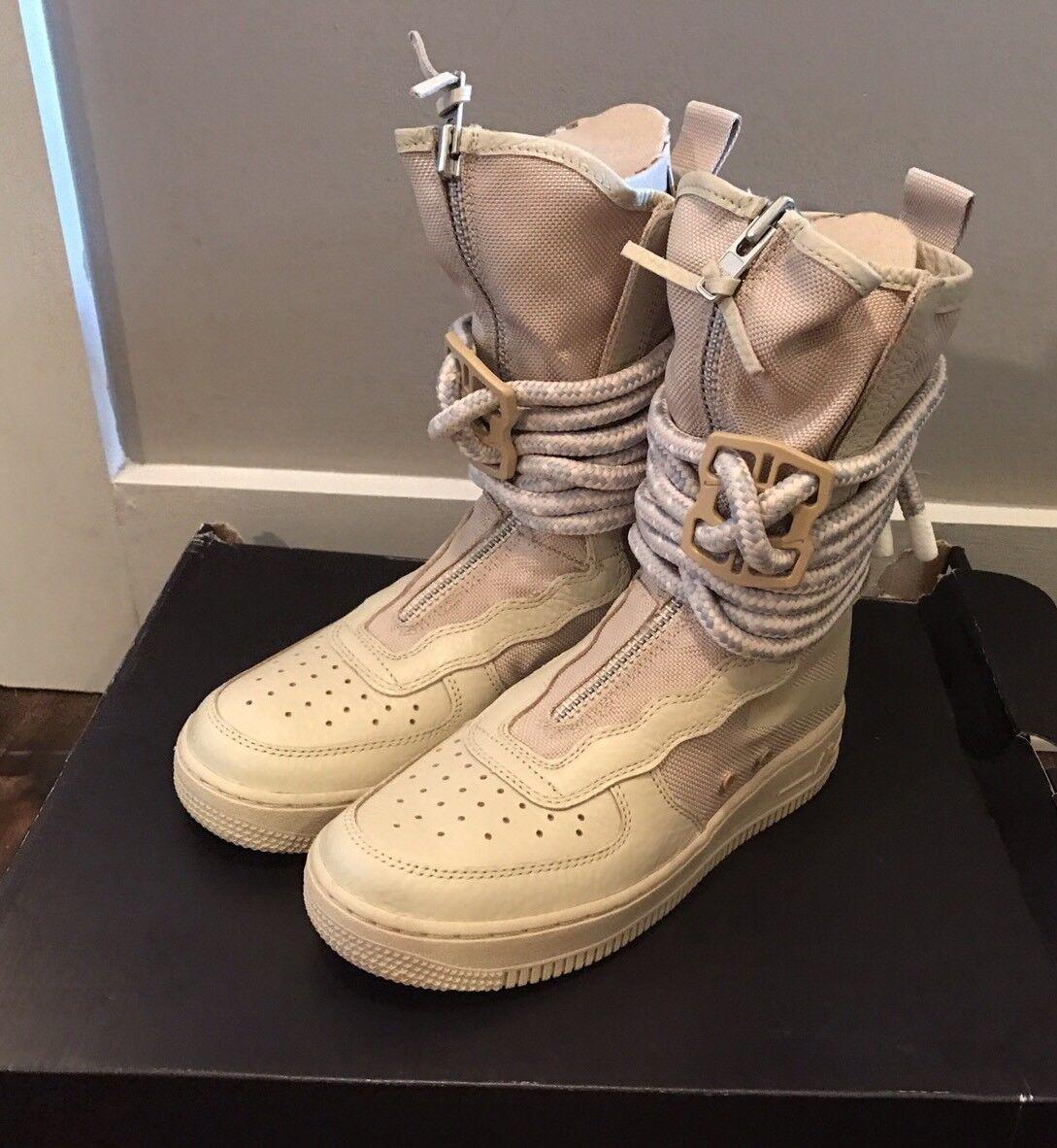 Nike Women's SF AF1 Hi Special Field Rattan Boots AA3965-200 Sz 6.5 - NIB