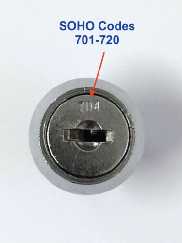 Key Cut To Your Code Number FREE POST! SOHO Filing Cabinet Keys Cut #701-720
