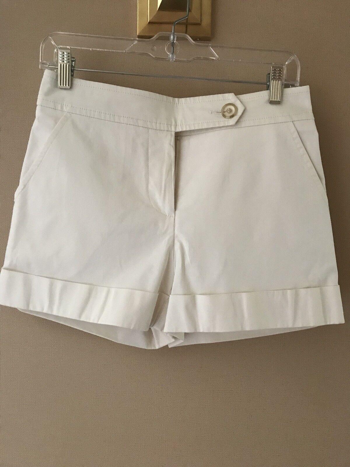 TRINA TURK Cuffed White Shorts 2