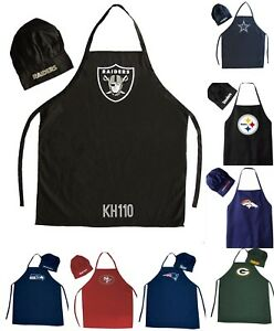 988d973f Details about NFL Football Team Barbecue Tailgating Apron And Chef's Hat