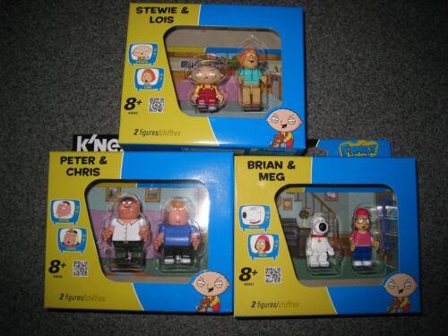 NIB FAMILY GUY K/'NEX STEWIE LOUIS BRIAN MEG PETER CHRIS FIGURES I SHIP EVERYDAY