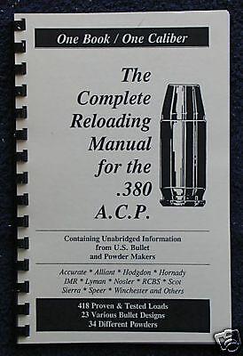 .45 A.C.P Auto Reloading Manual LOADBOOK 45 ACP USA Newest 2016 Edition
