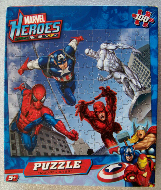 Marvel Hereos 100 Pieces Puzzle Captain America Spiderman