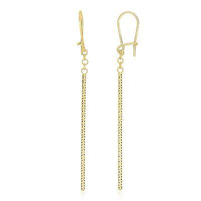 14K Yellow Gold Triple Vertical Feet//High Polish