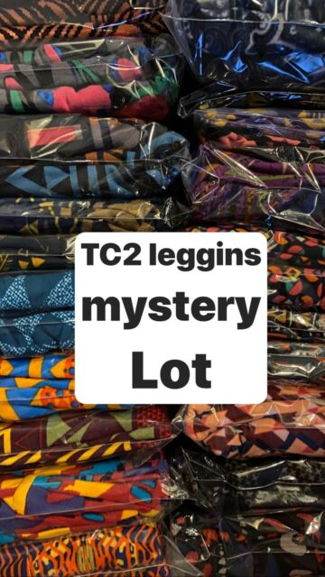 OS One Size Mystery Prints Leggings 5 different. NEW No Tags LuLaRoe LOT OF 5