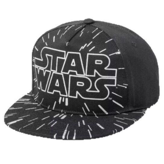 NWT Star Wars Logo Black Adjustable Cap Dad Hat MSRP $24