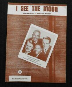 """Musikinstrumente 1953 """" I See The Moon """" Von """" Der Seeleute """" Meredith Willson Notenblatt Doo-wop ZuverläSsige Leistung Antiquarische Noten/songbooks"""
