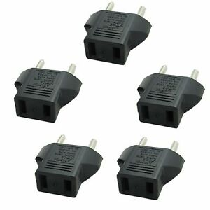 5X PACK American US to European EU Power Plug Adapter Converter Type ...
