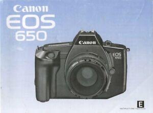 Canon EOS 650 Instruction Manual Original