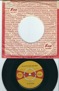 Northern Soul - Joe Matthews SUE 4046 You better mend your / Sorry ain't good ♫