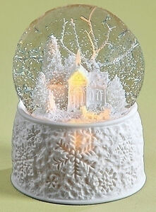 Snow Globes Quot White Christmas Quot Lighted Amp Musical Snow