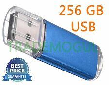 Sleek BLUE 256GB BRAND NEW USB 2.0 Thumb Pen Flash Drive Memory Stick Storage