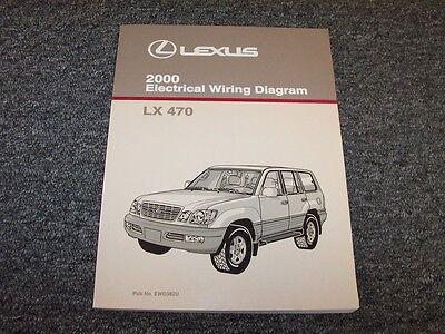 2000 lexus lx470 suv factory original electrical wiring diagram manual 4.7l  v8 | ebay  ebay