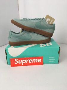 411edb33b15 Nike X Supreme Blazer Low GT QS Cannon Gum Blue 716890 009 Men s Sz ...
