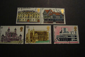GB-1975-Commemorative-Stamps-Architecture-Fine-Used-Set-ex-fdc-UK-Seller