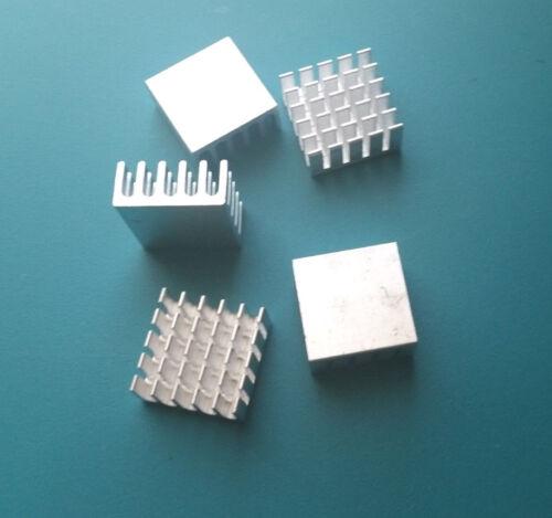 5PCS  Silver Tone Aluminum Radiator Heat Sink Heatsink 22mm x 22mm x 10mm