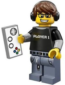 LEGO Minifigures Series 12 Video Game Guy suit gamers of ps4 ps5 wii pc xbox etc