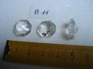 10 pampilles en verre forme octogonale 16 mm réf B5 S