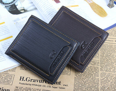 Mens Leather Bifold Wallet Pockets ID credit Card Clutch Holder Purse 2 Colors J